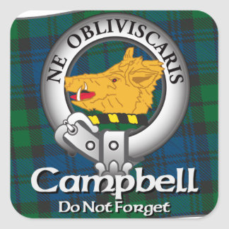 Campbell Clan Square Sticker