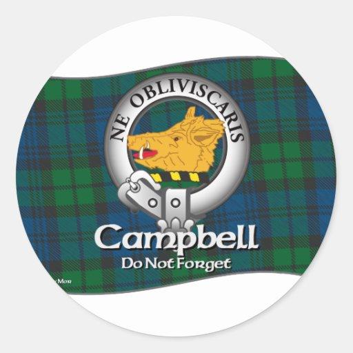 Campbell Clan Round Sticker