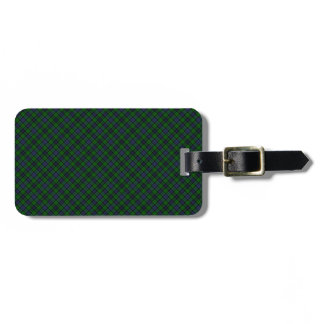 Campbell Clan Tartan Designed Print Luggage Tag