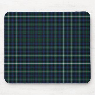 Campbell Clan Tartan Navy Blue Plaid Mouse Pad