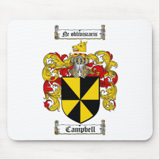 CAMPBELL FAMILY CREST -  CAMPBELL COAT OF ARMS MOUSE PAD