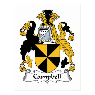 Campbell Family Crest Postcards