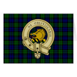 Campbell Family Tartan Plaid and Clan Crest Badge