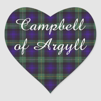 Campbell of Argyll clan Plaid Scottish tartan Heart Sticker