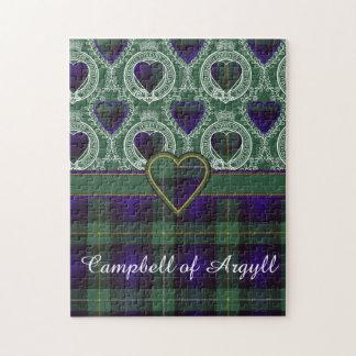 Campbell of Argyll clan Plaid Scottish tartan Jigsaw Puzzle