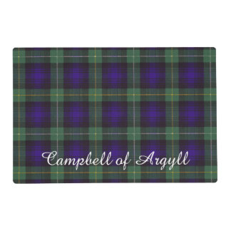 Campbell of Argyll clan Plaid Scottish tartan Laminated Place Mat