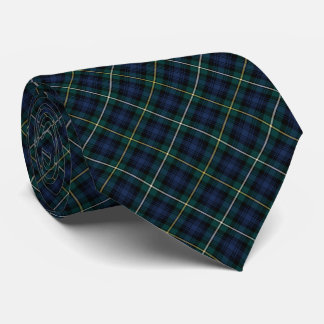 Campbell of Argyll Clan Tartan Navy Blue Plaid Tie
