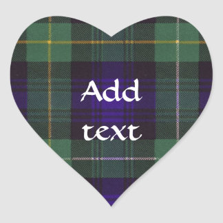 Campbell of Argyll Scottish Tartan Heart Sticker