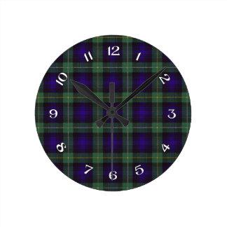 Campbell of Argyll Scottish Tartan Round Clock