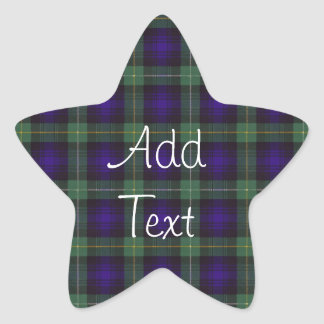 Campbell of Argyll Scottish Tartan Star Sticker