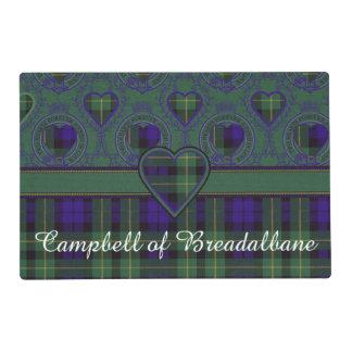 Campbell of Breadalbane Plaid Scottish tartan Laminated Place Mat