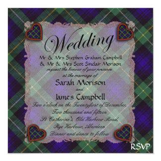 Campbell of Breadalbane Scottish tartan - Plaid 13 Cm X 13 Cm Square Invitation Card