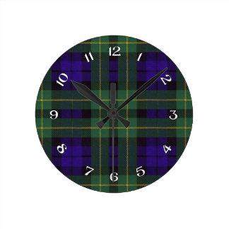 Campbell of Breadalbane Scottish Tartan Round Clock
