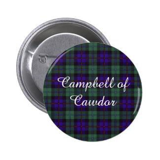 Campbell of Cawdor clan Plaid Scottish tartan Button