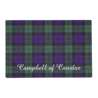 Campbell of Cawdor clan Plaid Scottish tartan Laminated Place Mat