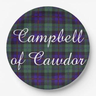 Campbell of Cawdor clan Plaid Scottish tartan Paper Plate