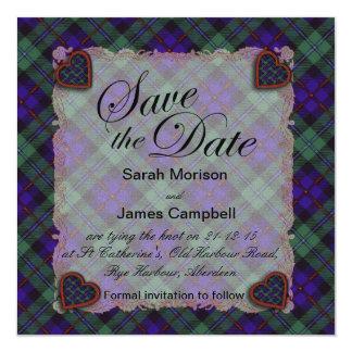 Campbell of Cawdor Scottish clan tartan - Plaid Card