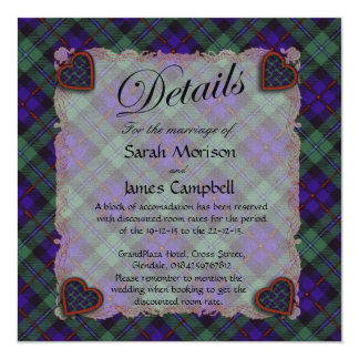 "Campbell of Cawdor Scottish clan tartan - Plaid 5.25"" Square Invitation Card"