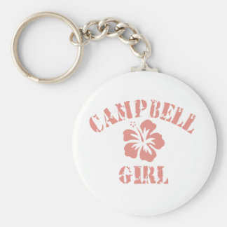 Campbell Pink Girl Keychain
