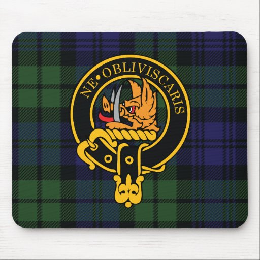 Campbell Scottish Crest and Tartan Mouse Pad