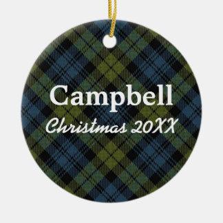 Campbell Scottish Tartan Christmas Ornament