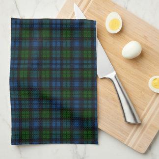 Campbell Scottish Tartan Plaid Tea Towel
