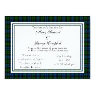 Campbell Scottish Wedding Invitation