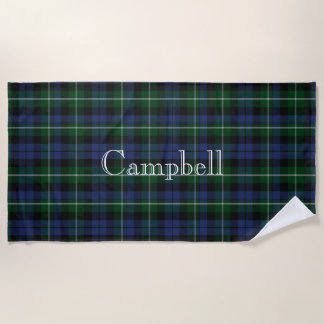 Campbell Tartan Plaid Beach Towel