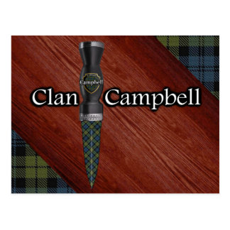 Campbell Tartan Scottish Sgian Dubh Blade Postcard