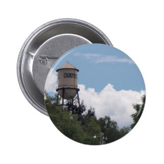 Campbell Water Tower, California 6 Cm Round Badge