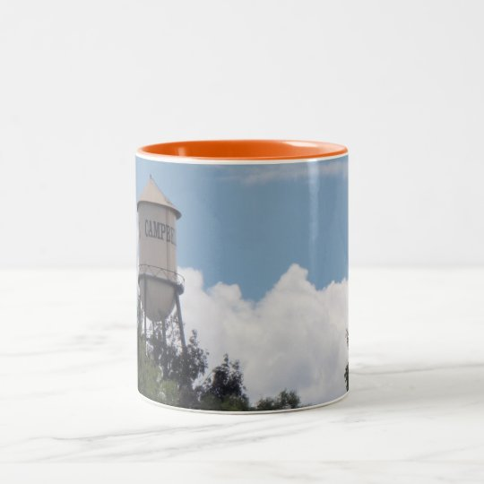 Campbell Water Tower, California Two-Tone Coffee Mug