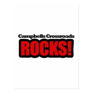 Campbells Crossroads, Alabama City Design Postcard