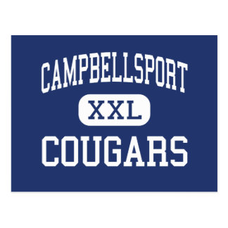 Campbellsport - Cougars - High - Campbellsport Postcard