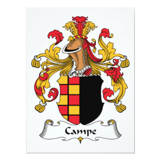 Campe Family Crest Invitations