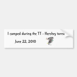 Camped TT - Hershey Tornado Bumpersticker Bumper Sticker
