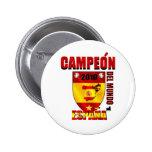 Campeón Del Mundo España 6 Cm Round Badge