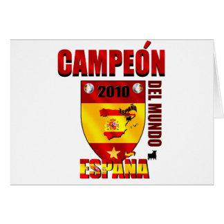 Campeón Del Mundo España Cards