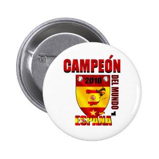 Campeón Del Mundo España Pins