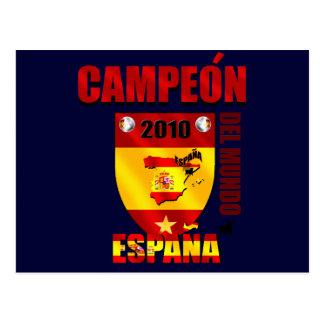 Campeón Del Mundo España Post Cards