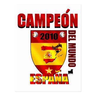 Campeón Del Mundo España Postcard