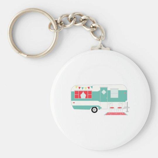 Camper Basic Round Button Key Ring