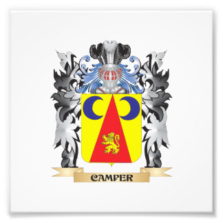 Camper Coat of Arms - Family Crest Photo Art