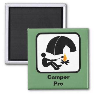 Camper Pro Square Magnet