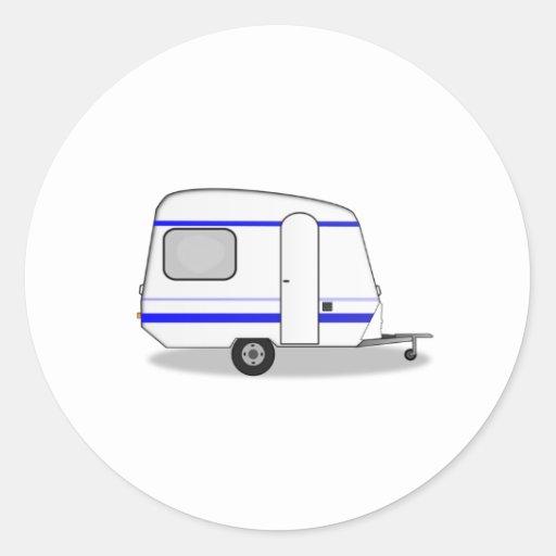 Camper Trailer Round Sticker