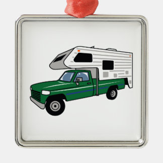 Camper Truck Christmas Ornament