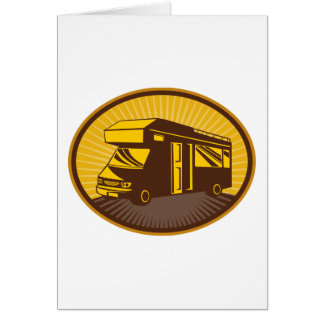 Camper van caravan mobile home greeting card