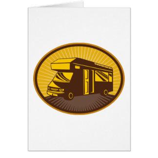 Camper van caravan mobile home greeting card