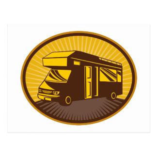 Camper van caravan mobile home post card