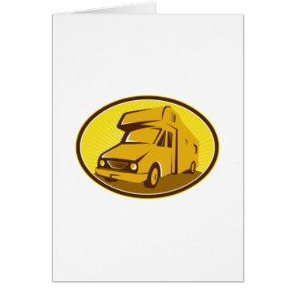 Camper Van Mobile Home Retro Greeting Card