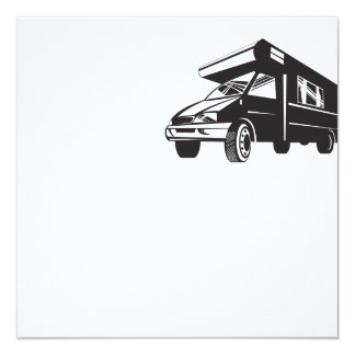 Camper Van Motor Home Retro Personalised Announcement